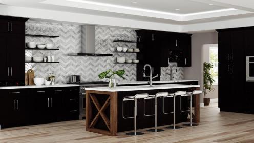 RTA Shaker Espresso Kitchen Cabinets