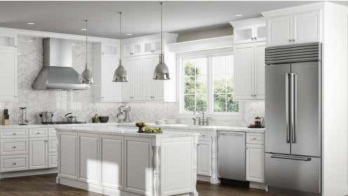 RTA Key Largo White Kitchen Cabinets