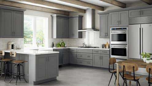RTA Grey Shaker Elite Kitchen Cabinets