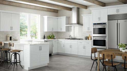 RTA Summit Shaker White Kitchen Cabinets